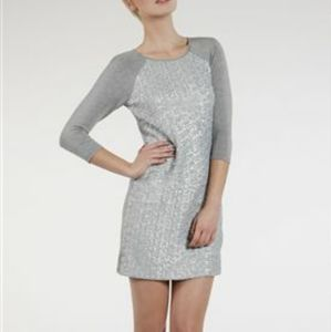 Ted Baker Sequin Jersey Midi Gray Dress size 1